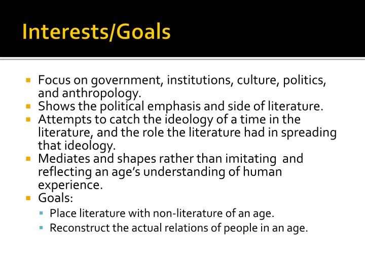 Interests/Goals