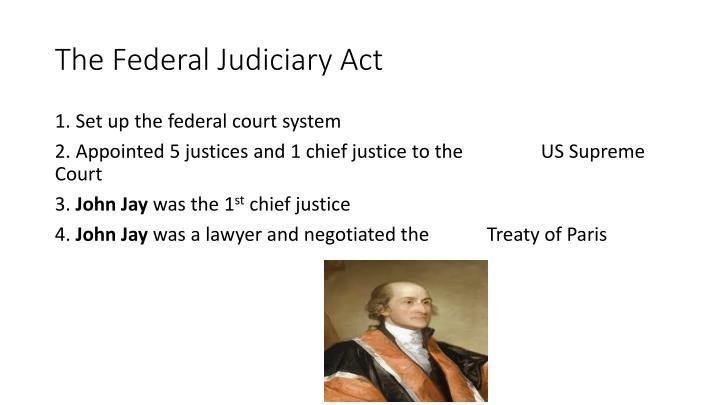 The Federal Judiciary Act