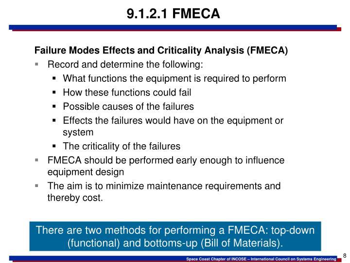 9.1.2.1 FMECA