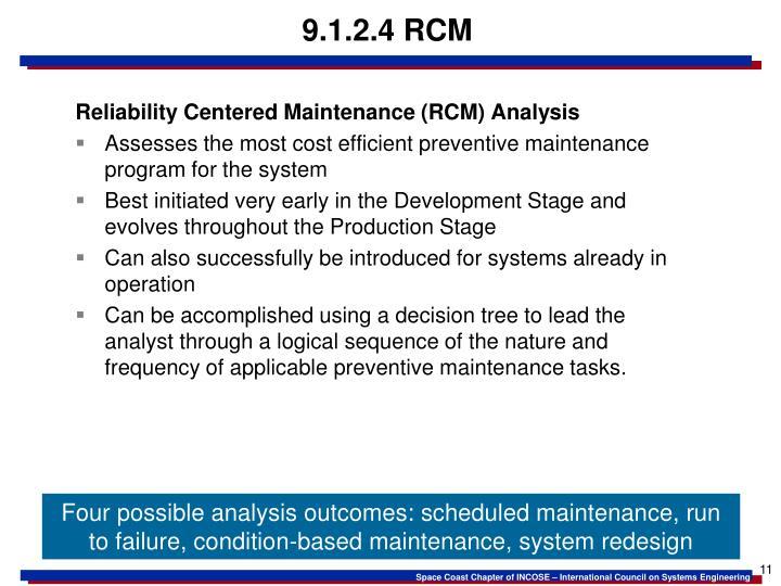 9.1.2.4 RCM