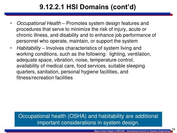 9.12.2.1 HSI Domains (cont'd)