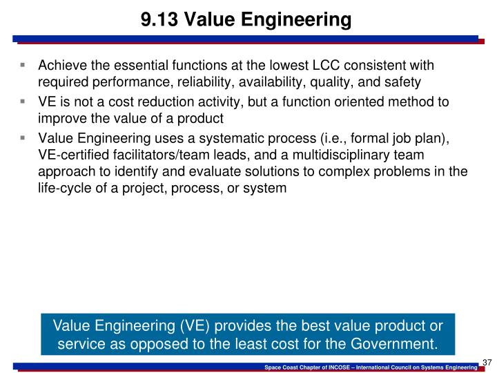 9.13 Value Engineering