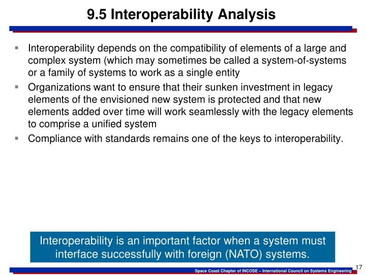 9.5 Interoperability Analysis