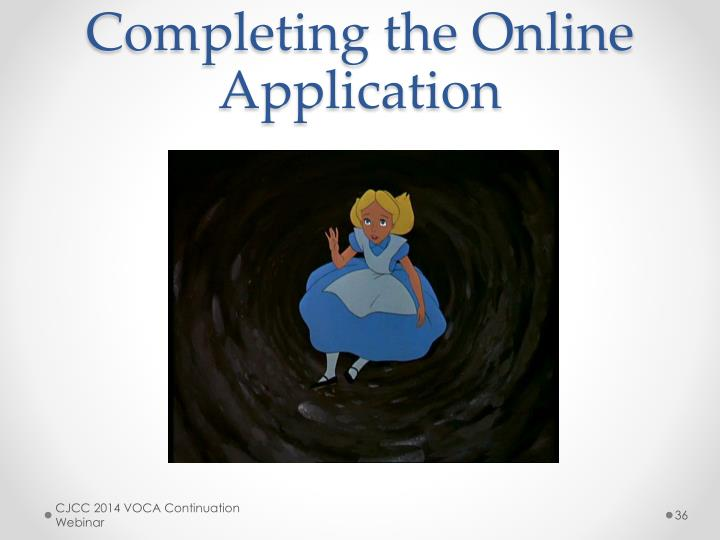 Completing the Online Application