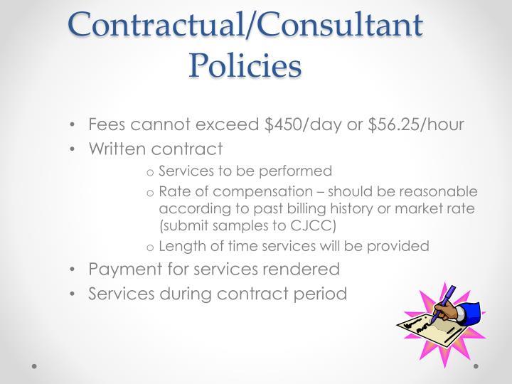 Contractual/Consultant Policies