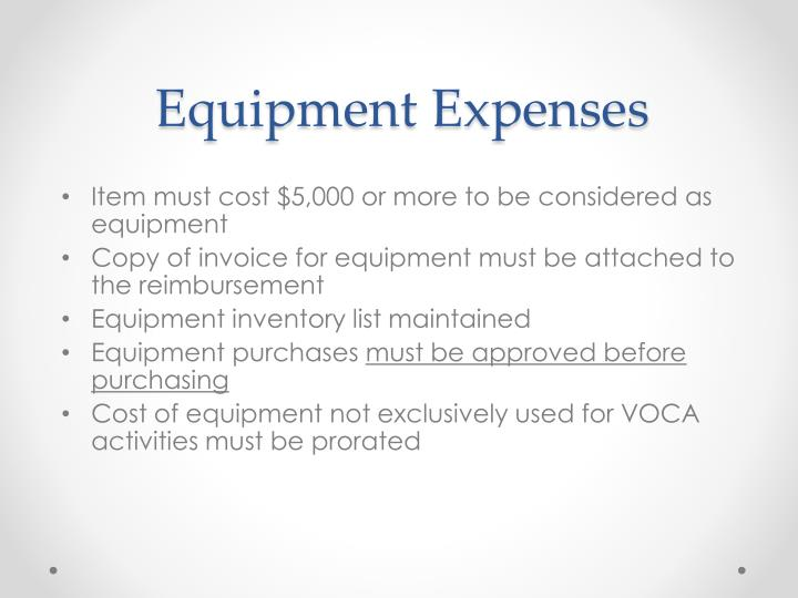 Equipment Expenses