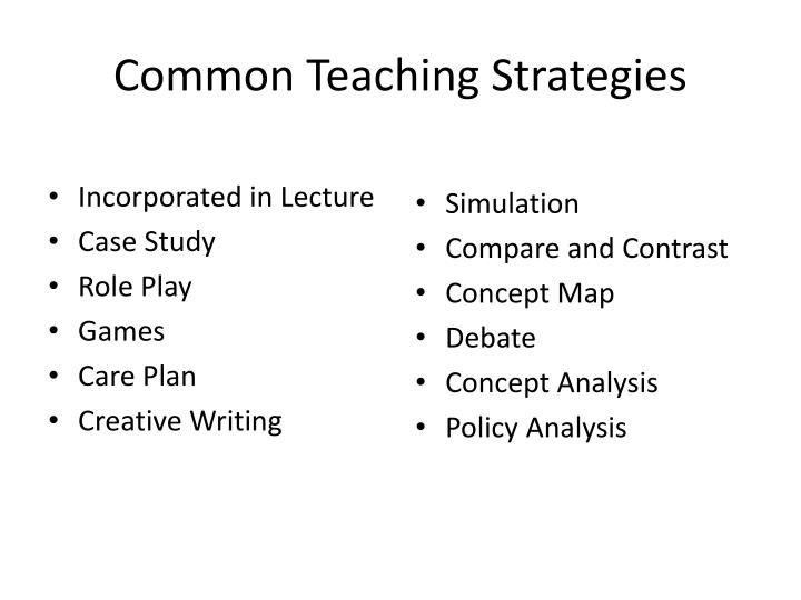 Common Teaching Strategies