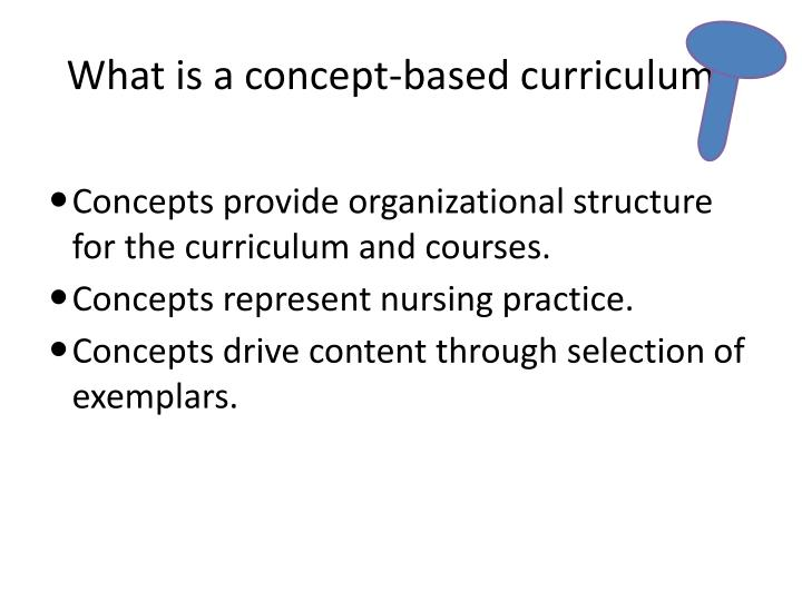 What is a concept-based curriculum?