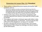 elementary art lesson plan 3 d procedure