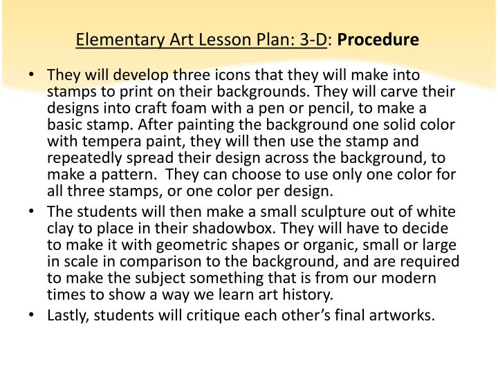 Elementary Art Lesson Plan: