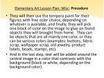 elementary art lesson plan misc procedure2