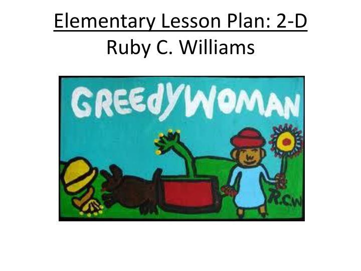 Elementary Lesson Plan: 2-D