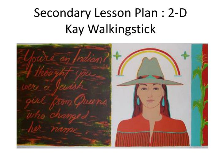 Secondary Lesson Plan : 2-D
