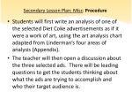 secondary lesson plan misc procedure