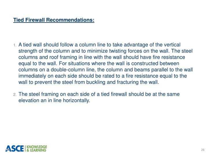 Tied Firewall Recommendations: