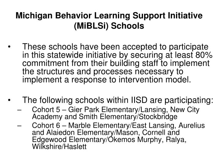 Michigan Behavior Learning Support Initiative (