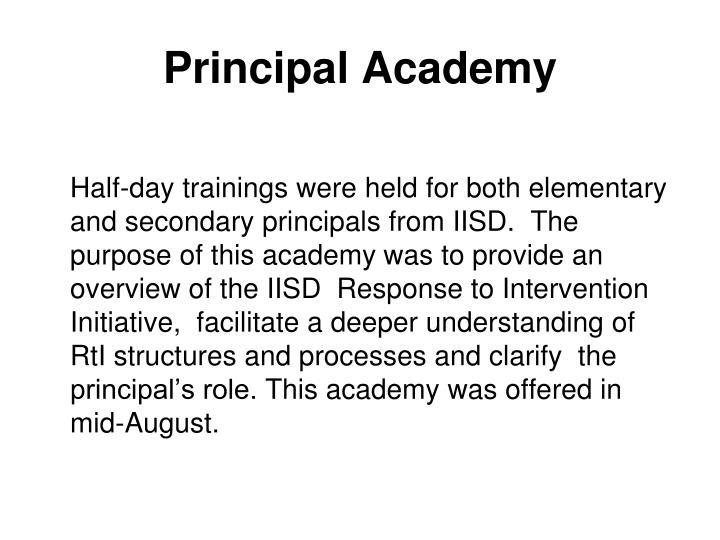 Principal Academy