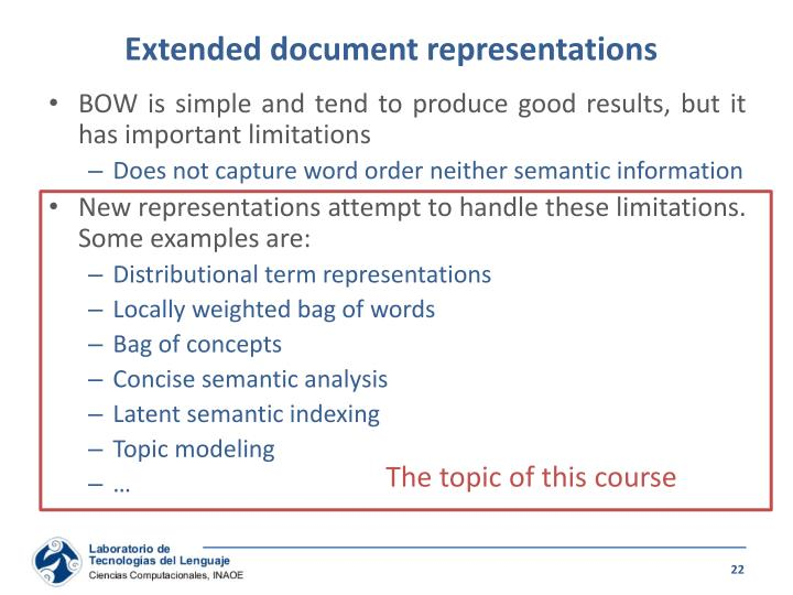 Extended document representations