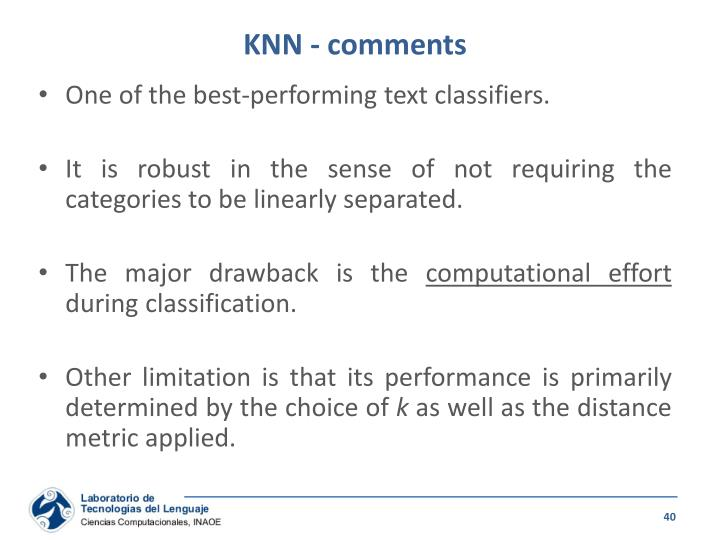 KNN - comments
