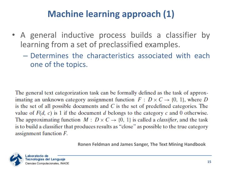 Machine learning approach (1)