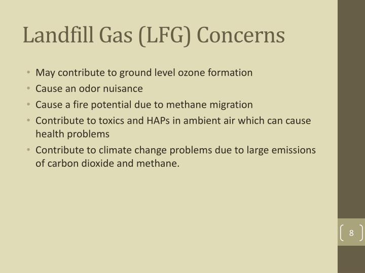 Landfill Gas (LFG) Concerns