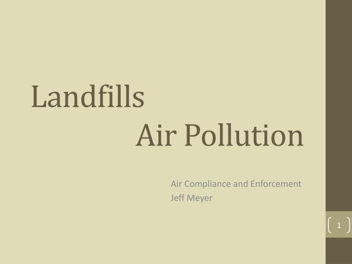 landfills air pollution