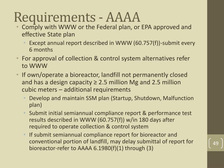 Requirements - AAAA
