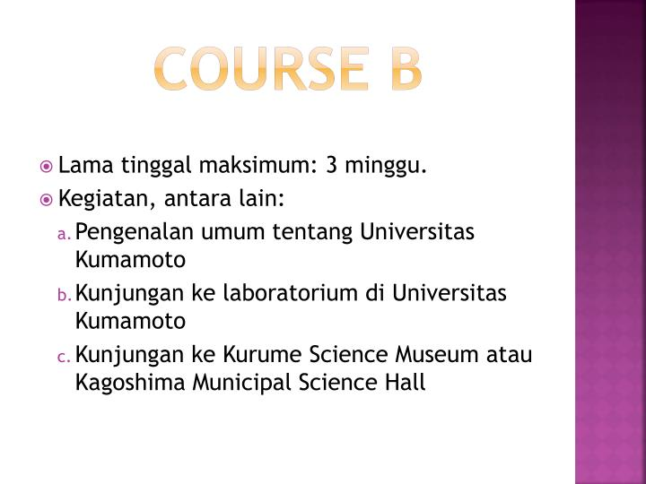 Course B
