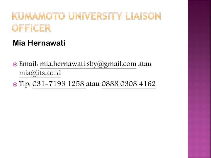 Kumamoto university liaison officer
