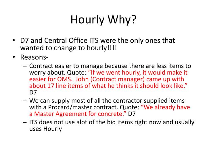 Hourly Why?