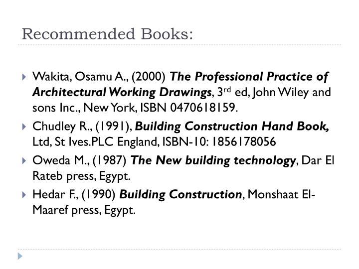 Recommended Books: