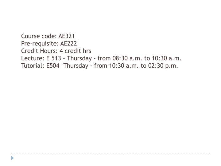Course code: