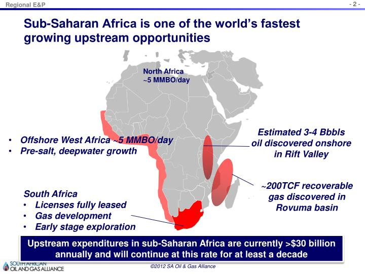 Sub saharan africa is one of the world s fastest growing upstream opportunities