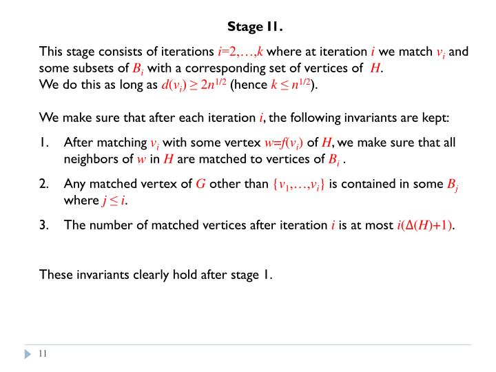 Stage I1.
