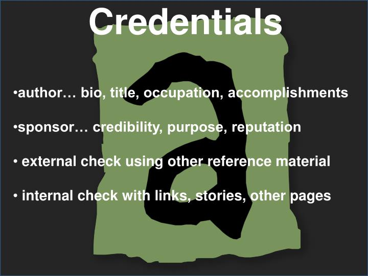 Credentials