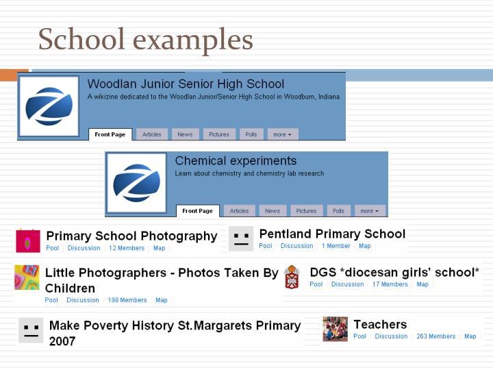 School examples