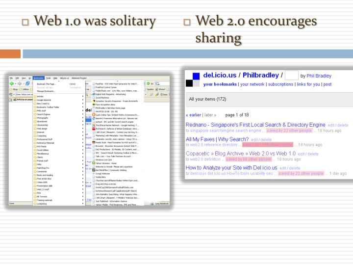 Web 1.0 was solitary