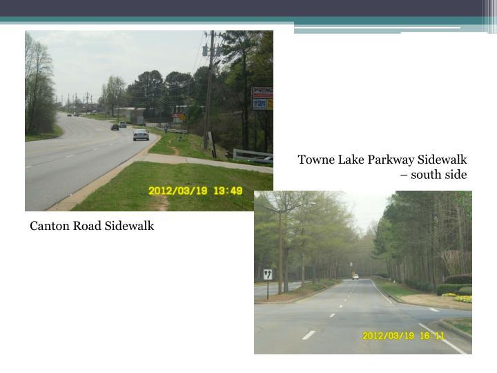 Towne Lake Parkway Sidewalk – south side
