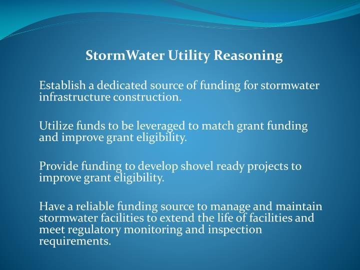 StormWater Utility Reasoning