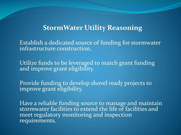 StormWater Utility Reasoning