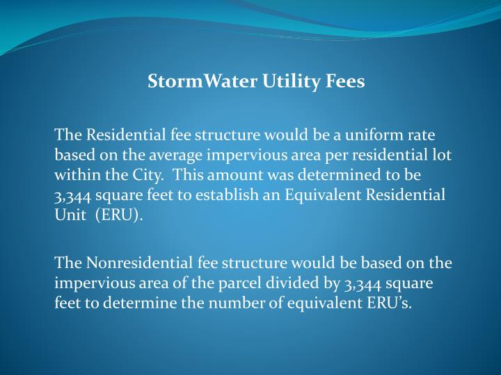 StormWater Utility Fees