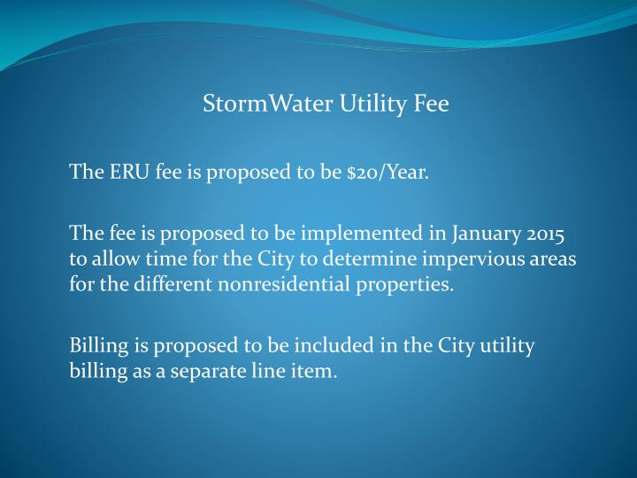 StormWater Utility Fee