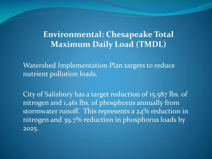 Environmental: Chesapeake Total Maximum Daily Load (TMDL)
