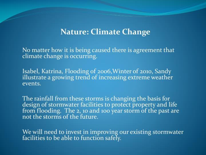 Nature: Climate Change