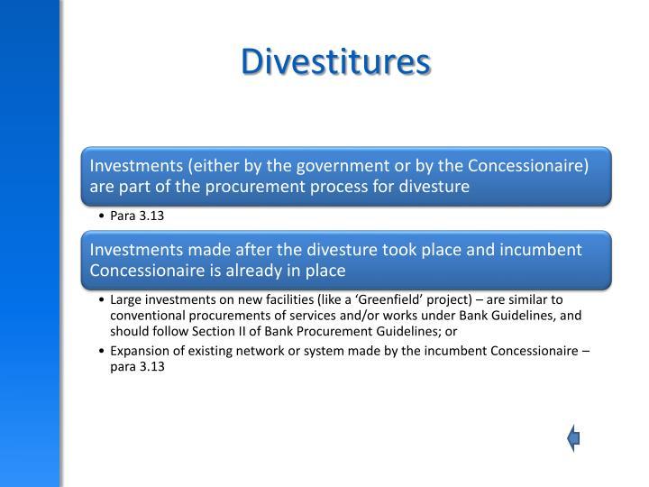 Divestitures