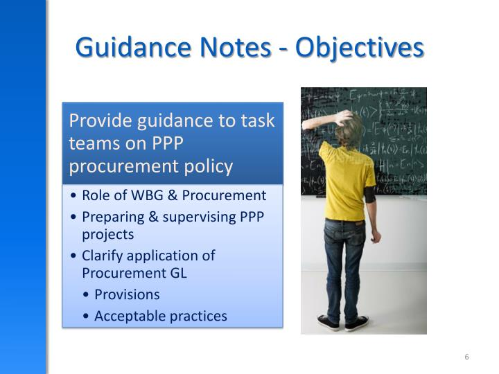Guidance Notes - Objectives