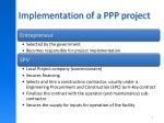 implementation of a ppp project