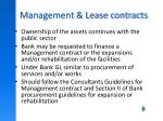 management lease contracts