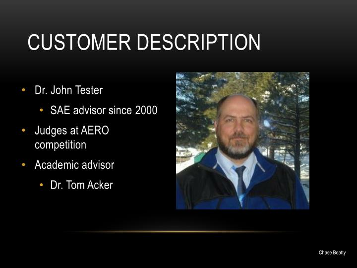 Customer description