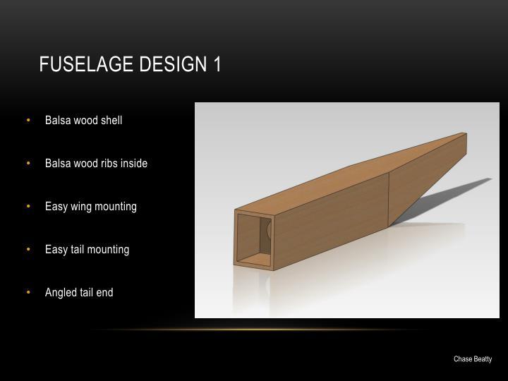 Fuselage Design 1